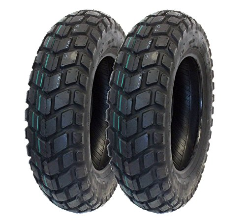 MMG Tire Set, Front Tire 120/90-10 Rear Tire 130/90-10 On Road TGB Motard Motorcycle Scooter (P126) (Tgb Scooter)