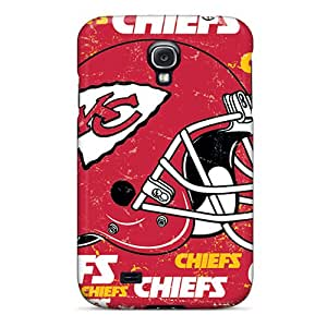 Perfect Hard Phone Case For Samsung Galaxy S4 With Allow Personal Design HD Kansas City Chiefs Pattern AnnaDubois