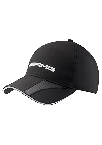 37f1f33bd93 Amazon.com  Mercedes Benz Structured Black AMG Hat w Carbon Fiber ...