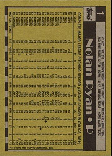 Topps Nolan Ryan Card - 1990 Topps #1 Nolan Ryan