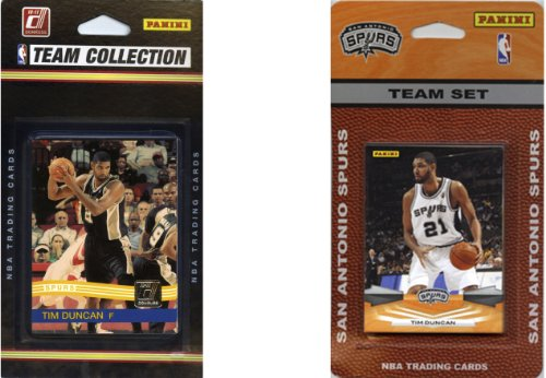 NBA San Antonio Spurs 2 Different Licensed Trading Card Team Sets