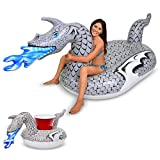 GoFloats Giant Inflatable Ice Dragon | Includes Bonus Ice Dragon Drink Float | New for 2018