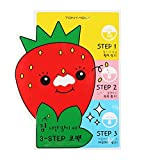 Tony Moly - Strawberry Seed 3-Step Nose Pack - Black Head 3-Step - Cleansers & Exfoliators