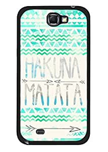 Color.Dream Cool Brand New Hakuna Matata Aztec Hard Plastic Back Case Cover Phone Protective Case for Samsung Galaxy Note2 N7100