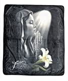 DGA Day of Dead High Definition Super Soft Plush Micro Fleece Blanket 50x60 Inches - Faith Prayer