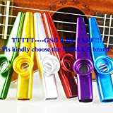 NABLUE Set of 6 Colorful Metal Kazoo Party (Kazoo Kid Trap Music) - A Good Companion for Guitar, Ukulele, Violin, Piano Keyboard