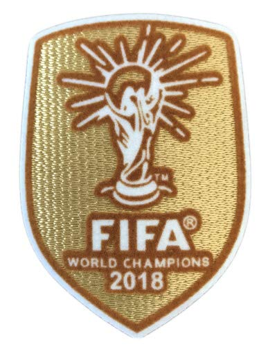 - Trafford2009MU Replica 2018 Russia World Cup France Champions Gold 2020 Euro Cup Football Soccer Shirt Jersey Kit Iron Sew On Patch Badge