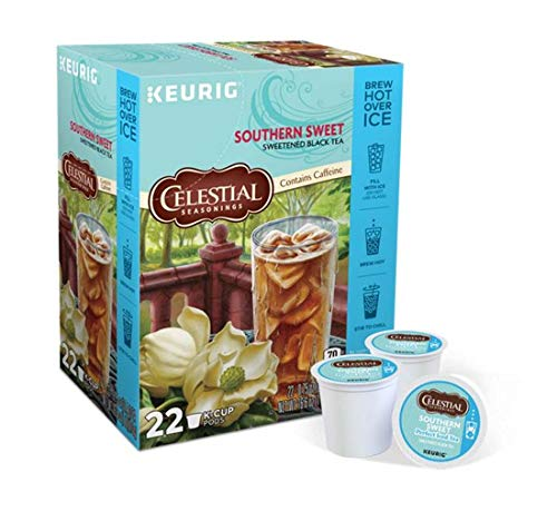 Keurig Tea and Ice Tea Pods K-Cups 18/22 / 24 Count Capsules ALL BRANDS/FLAVORS (Twinings/Chai/Celestial/Lipton/Tazo/Diet Snapple) (22 Pods Southern Sweet Perfect Iced Tea) -  Globalpixels