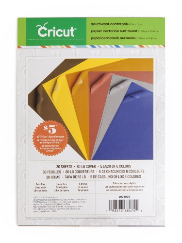 Cricut Textured Cardstock, 8.5-Inch by 12-Inch, Southwest -
