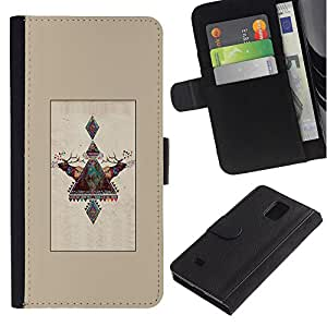 APlus Cases // Samsung Galaxy Note 4 SM-N910 // Finlandia Laponia ciervos invierno polar Alaska // Cuero PU Delgado caso Billetera cubierta Shell Armor Funda Case Cover Wallet Credit Card