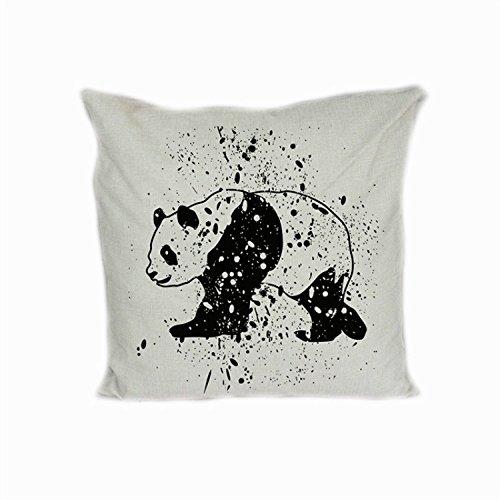 Pintado a mano Panda cojín funda - manta funda de almohada ...