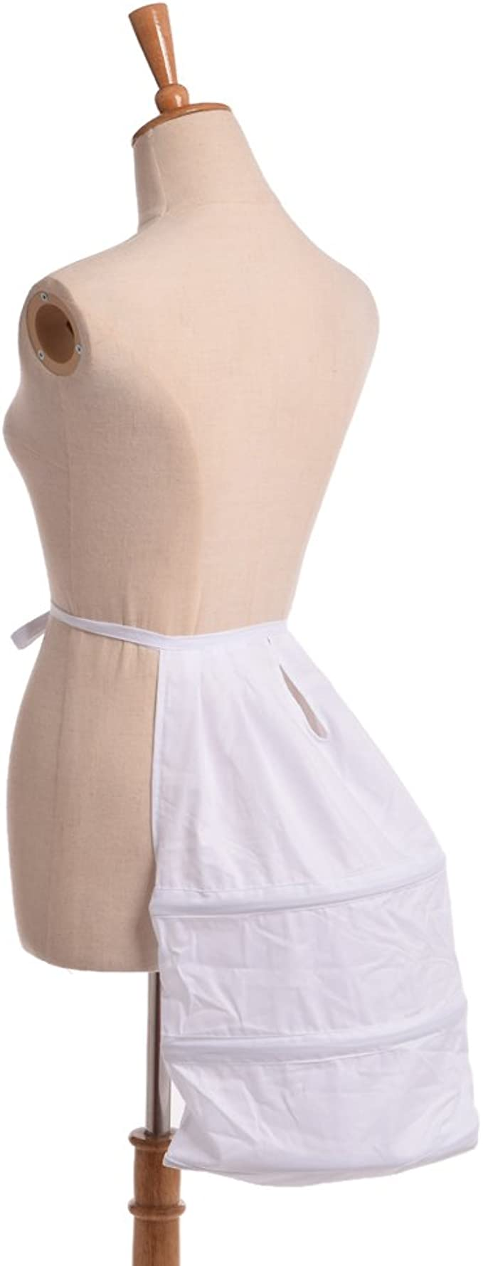 Renaissance Dress Crinoline Cage 3Hoops Bustle Double Pannier Gown Petticoat 1pc