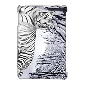 Ipad Mini Covers Hard Back Protective-Tiger King of Animal Case(3)