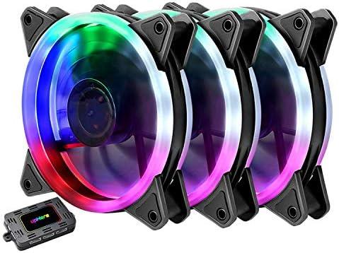 upHere RGB LED Ventilador para ordenador: Amazon.es: Electrónica