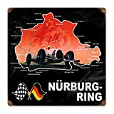 Nurburgring German Car Racing Metal Sign