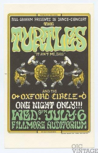 (Bill Graham Postcard 15 Turtles Oxford Circle 1966 Jul 6)