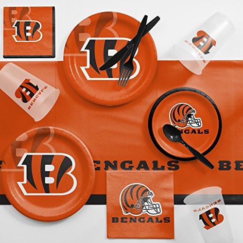 Creative Converting Cincinnati Bengals Game Day Party Supplies Kit, Serves 8