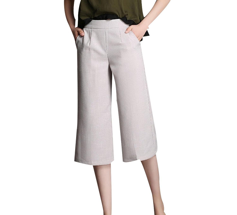 Ctooo 2018 Pantalon Femme Décontracté Large Pantacourt Zsvumgpq 4AR3j5L