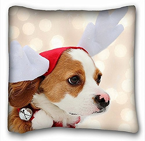 [My Honey Pillow Pillow Cover dog costume s deer face colorful 18 in*18 Twin Sides] (Cherry Apple Costumes)