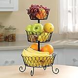 Black Tiered Fruit Basket