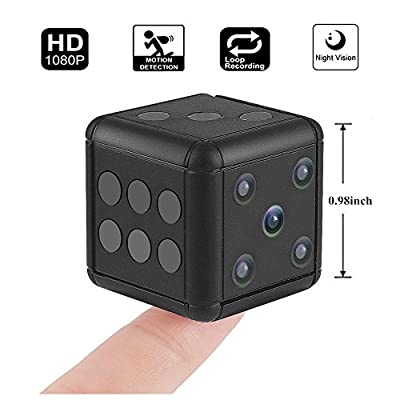Crazepony Mini Hidden Spy Camera SQ16 1080P HD Nanny Cam Night Vision Portable Motion Detection FOV 90 Degree Sports Camera Mini DV Video Recorder for Indoor or Outdoor Surveillance by Crazepony