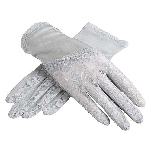 エミュレートするる本当のことを言うと薄い&短いスタイル太陽の手袋は、夏に使用する抗UV&タッチスクリーン、グレー