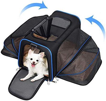 YOUTHINK Hunde Rucksäcke Hundetragetasche Tragetuch Hunde, Freihändige Hundetragetasche Haustier Rucksäcke mit Mesh Erweiterbare Die meisten von Fluggesellschaften Zugelassenen Katzentragetasche