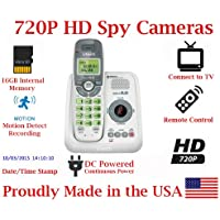 720p Digital Cordless Home Phone HD Spy Camera Covert Telephone Hidden Nanny Camera Spy Cam Spy Gadget