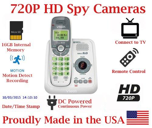 720p Digital Cordless Home Phone HD Spy Camera Covert Telephone Hidden Nanny Camera Spy Cam Spy Gadget
