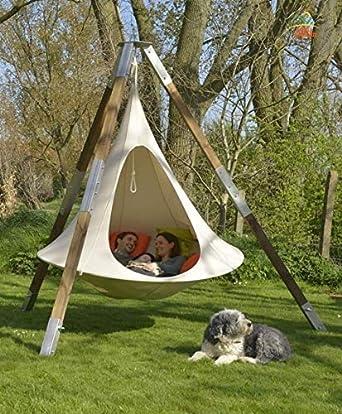 Ufo Shape Teepee Tree Hanging Silkworm Cocoon Swing Chair For Kids Adults Indoor Outdoor Hammock Tent Hamaca Patio Furniture White 180x150cm Amazon Com Industrial Scientific