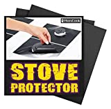 MARS COOK 8 Piece Gas Stove Burner Covers Gas Range Protectors, Stovetop Protector Liner Cover, Gas Stove Burner Covers, Reusable, Heat Safe