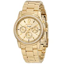 Invicta Women's 11770 Angel Gold Dial 18k Gold Ion-Plated Stainless Steel Watch