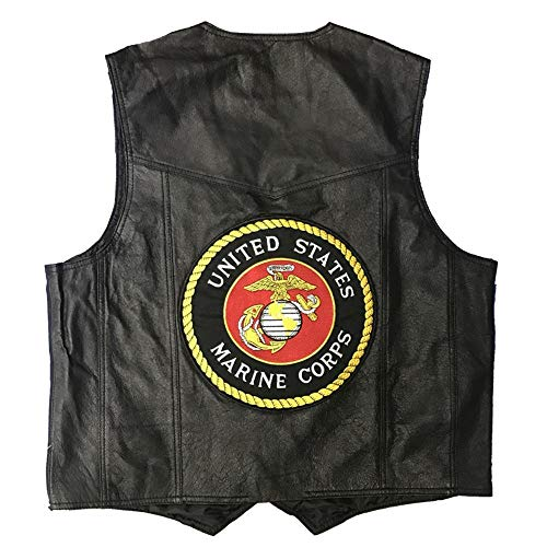Official Products 4U US Marines Leather Vest - 2XL ()