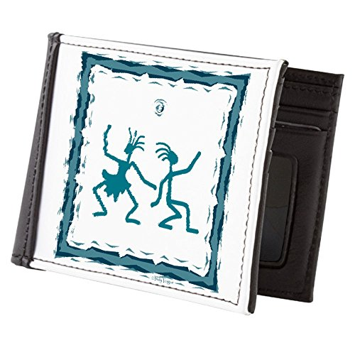 Teague Truly Dancing Teal Primitive Duo Billfold Truly Teague Wallet Men's BwUBSEq