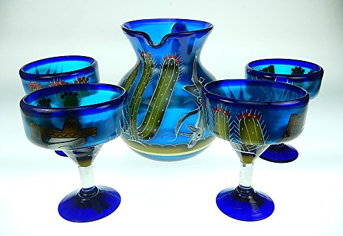 margarita glass set with pitcher - 8