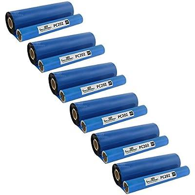 Speedy Inks - 3PK Brother PC202 PC202RF Thermal Fax Ribbon Refill Rolls 6 Rolls