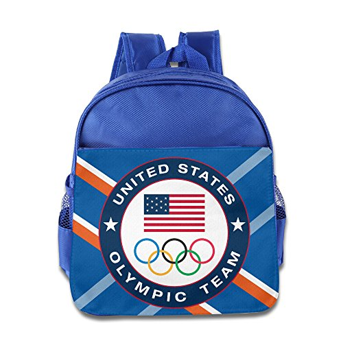 ANULRICA Boys Girls Toddler 2016 Rio Summer Olympics USA Olympic Team School Bag RoyalBlue