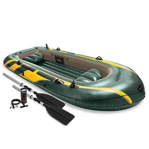 Kanqingqing Kayak Bote de Pesca de Remo de Goma for 4 Personas ...