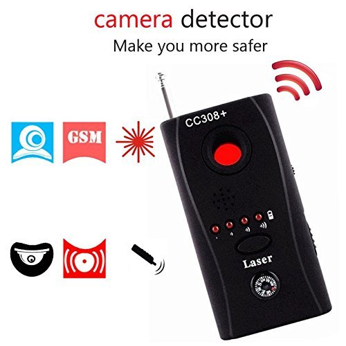 Wireless Lens Detector for Anti Spy Hidden Camera, Adjustable Detection Sensitivity Signal Bug RF Finder, GSM Voice Device Laser Detector