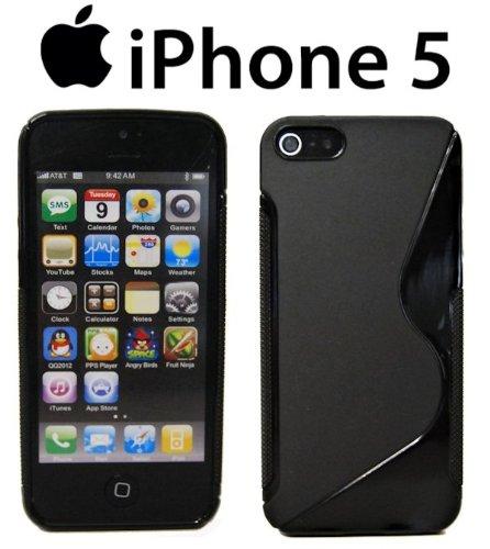 S-Line Hülle für Iphone 5 Silikon Hülle Silikonschutz Gummihülle in Schwarz