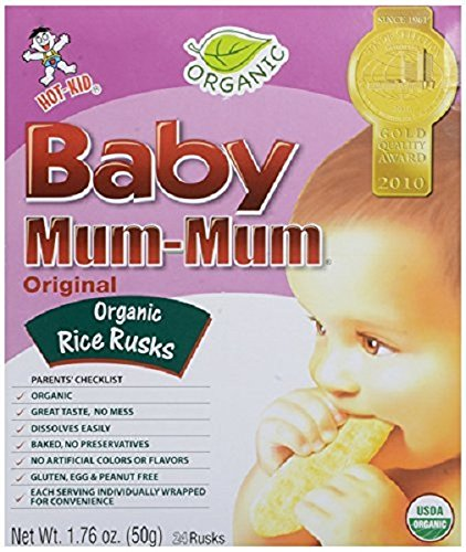 Hot Kid Mum Mums Baby Rice Rusk Original, 1.76 Ounce
