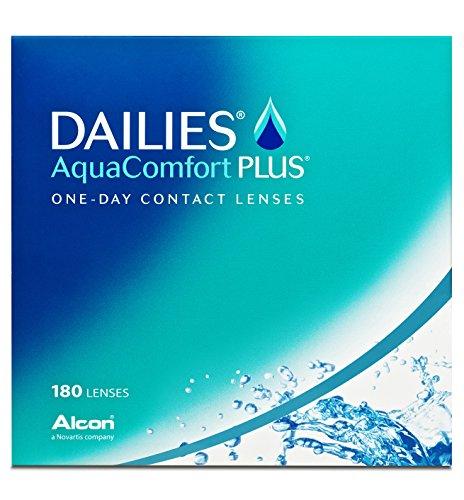 Alcon Dailies Aquacomfort Plus Tageslinsen weich, 180 Stück / BC 8.7 mm / DIA 14 / -6 Dioptrien