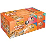 Friskies Chicken Lovers Cat Food Variety Pack 32-5.5 oz. Cans (Pack of 3)