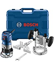 Bosch GKF125CEPK Colt 1.25 HP (Max) Variable-Speed Palm Router Combination Kit, Blue, 5.8 x 11 x 10.5 inches