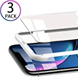 Compatible with iPhone XR Screen Protector 2018, [3-Pack] 2.5D Curved Edge Anti-Scratch [ Case Friendly ] Face Recognition [6.1] inch Tempered Glass Screen Protector by OULUOQI