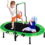 Merax Mini Rebounder Trampoline with Handle for Two Kids, Parent-Child Trampoline (Green)