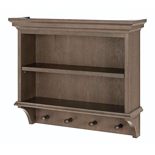 Home Decorators Collection Albright 24.5 in. W Vanity Shelf in Winter Gray