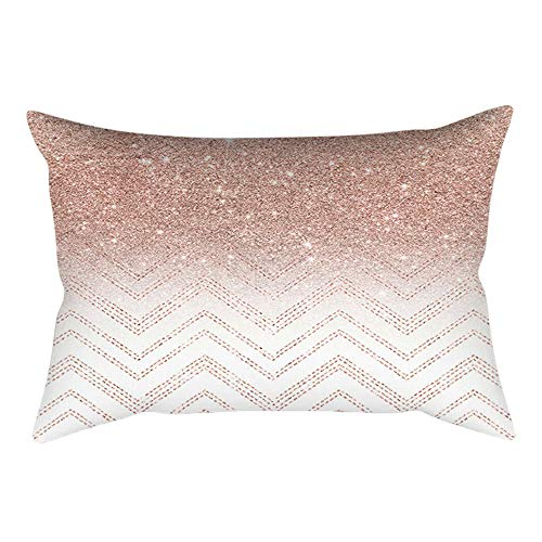 - Throw Pillow Covers, E-Scenery Further Reductions! Rose Gold Pink Rectangular Decorative Throw Pillow Cases Cushion Cover for Sofa Bedroom Car Home Decor, 20 x 12 Inch (E)