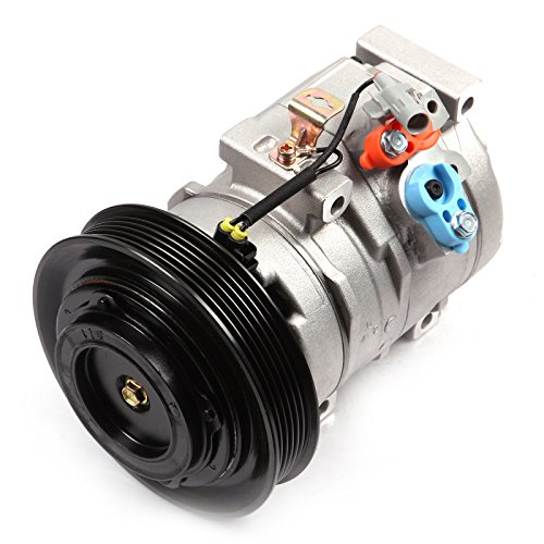 AC Compressor and A/C Cluth ECCPP CO 27000C Automotive Replacement Compressor Assembly for 2003-2008 Toyota Corolla 1.8L ()