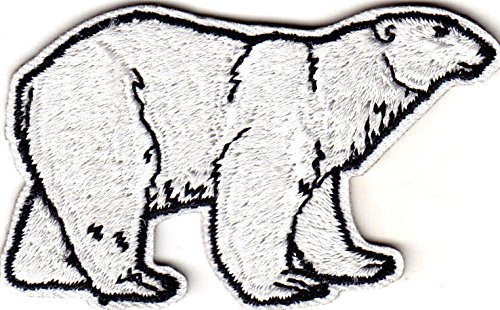 - Polar Bear Animal Zoo Arctic ron On Embroidered Applique Patch